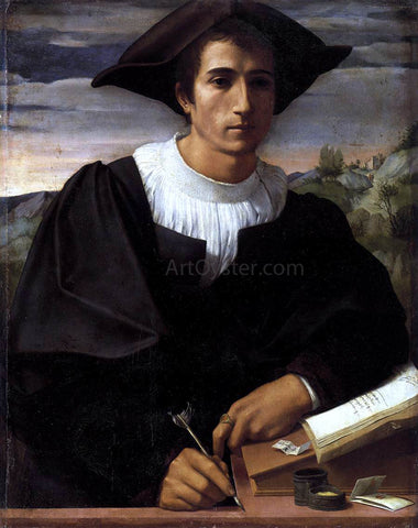 Franciabigio Portrait of a Man - Hand Painted Oil Painting