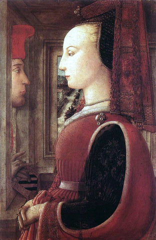 Fra Filippo Lippi Portrait of a Man and a Woman - Hand Painted Oil Painting