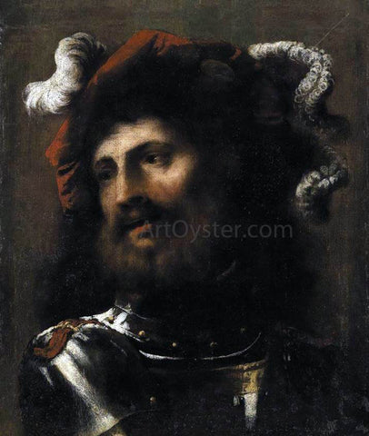 Pietro Della Vecchia Portrait of a Man in Armour - Hand Painted Oil Painting