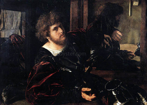 Giovanni Girolamo Savoldo Portrait of a Man in Armour (known as Gaston de Foix} - Hand Painted Oil Painting