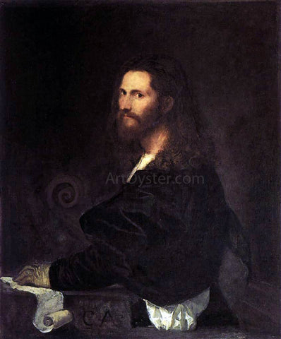 Titian Portrait of a Musician - Hand Painted Oil Painting