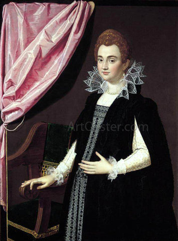 Scipione Pulzone Portrait of a Noblewoman - Hand Painted Oil Painting