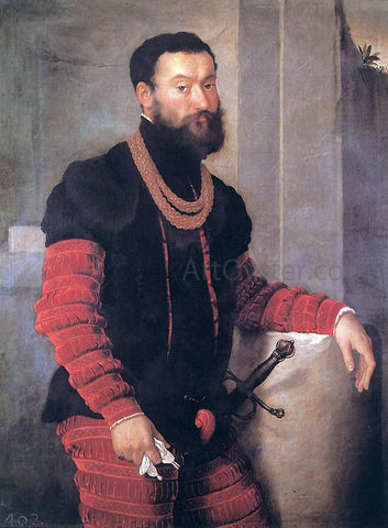 Giovanni Battista Moroni Portrait of a Soldier - Hand Painted Oil Painting