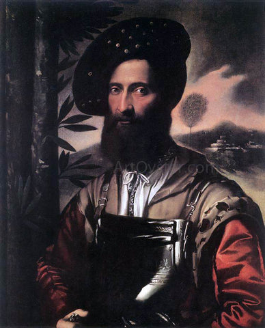 Dosso Dossi Portrait of a Warrior - Hand Painted Oil Painting
