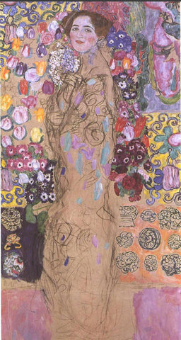 Gustav Klimt Portrait of a Women - Hand Painted Oil Painting
