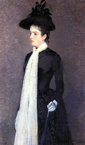 Theo Van Rysselberghe Portrait of a Woman in Black - Hand Painted Oil Painting