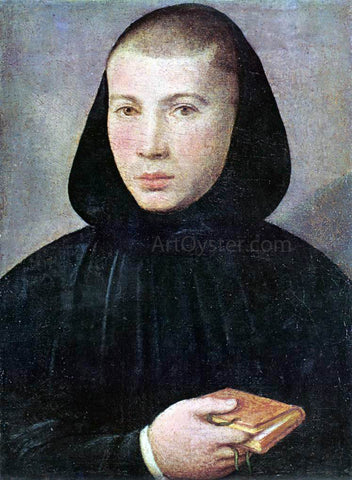 Giovanni Francesco Caroto Portrait of a Young Benedictine - Hand Painted Oil Painting