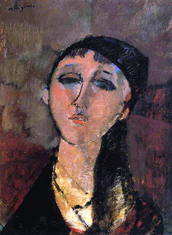 Amedeo Modigliani Portrait of a Young Girl (also known as Louise) - Hand Painted Oil Painting
