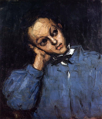 Paul Cezanne Portrait of a Young Man - Hand Painted Oil Painting
