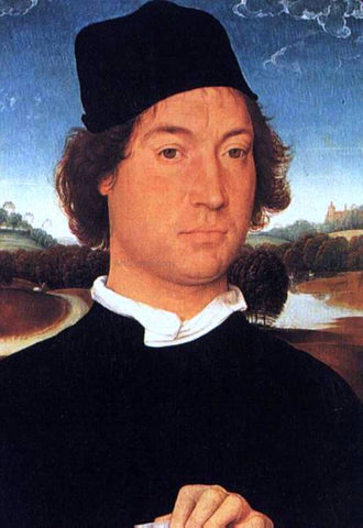Hans Memling Portrait of a Young Man - Hand Painted Oil Painting