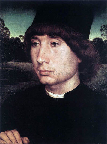Hans Memling Portrait of a Young Man Before a Landscape - Hand Painted Oil Painting