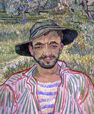 Vincent Van Gogh Portrait of a Young Peasant - Hand Painted Oil Painting