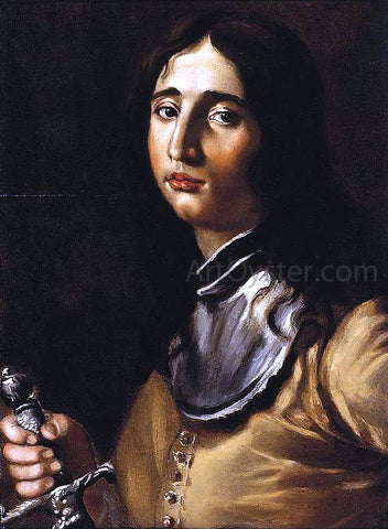 Cesare Dandini Portrait of a Young Soldier with a Lance - Hand Painted Oil Painting