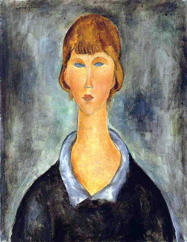 Amedeo Modigliani Portrait of a Young Woman - Hand Painted Oil Painting