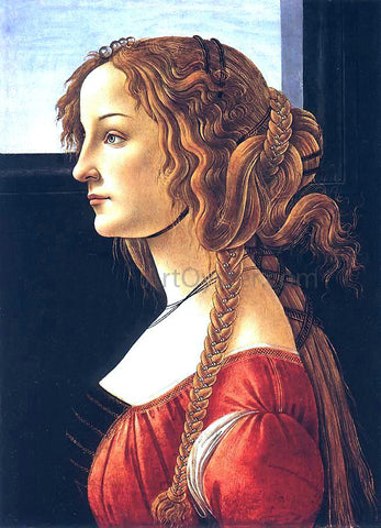 Sandro Botticelli Portrait of a Young Woman - Hand Painted Oil Painting