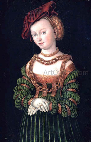 The Elder Lucas Cranach Portrait of a Young Woman - Hand Painted Oil Painting