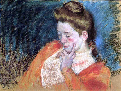 Mary Cassatt Portrait of a Young Woman - Hand Painted Oil Painting