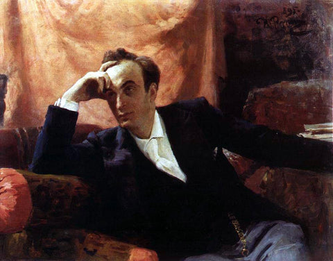 Ilia Efimovich Repin Portrait of Actor and Dramatist Grigory Grigorievich Ghe. - Hand Painted Oil Painting