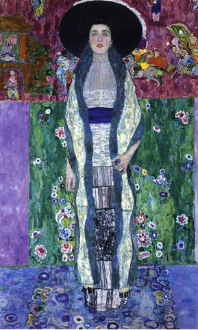 Gustav Klimt Portrait of Adele Bloch-Bauer II - Hand Painted Oil Painting
