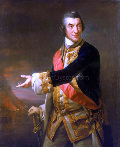 Richard Brompton Portrait of Admiral Sir Charles Saunders - Hand Painted Oil Painting
