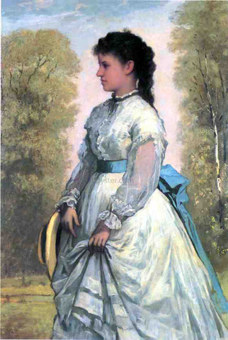 William Morris Hunt Portrait of Agnes Elizabeth Clafllin - Hand Painted Oil Painting