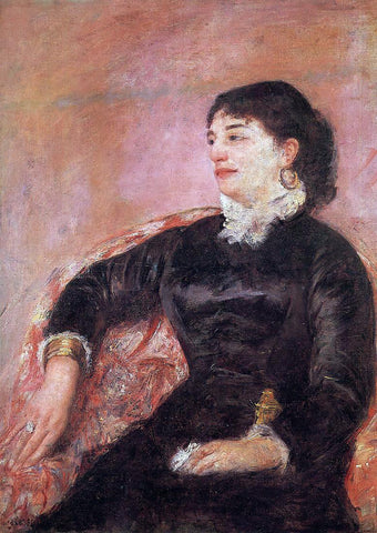 Mary Cassatt Portrait of an Italian Lady - Hand Painted Oil Painting