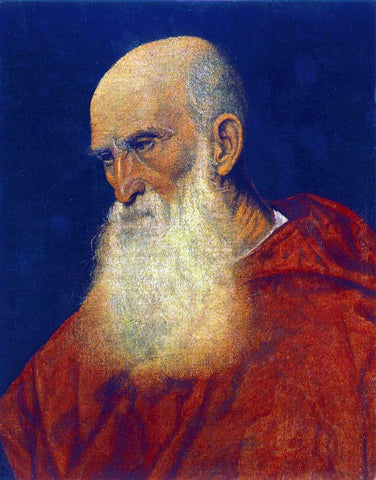 Titian Portrait of an Old Man (Pietro Cardinal Bembo) - Hand Painted Oil Painting