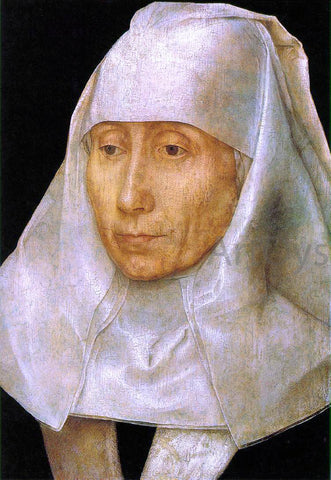 Hans Memling Portrait of an Old Woman - Hand Painted Oil Painting