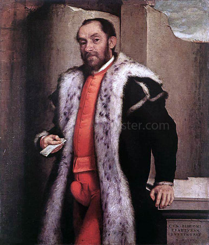 Giovanni Battista Moroni Portrait of Antonio Navagero - Hand Painted Oil Painting