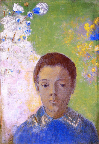 Odilon Redon Portrait of Ari Redon - Hand Painted Oil Painting