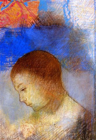 Odilon Redon Portrait of Ari Redon in Profile - Hand Painted Oil Painting