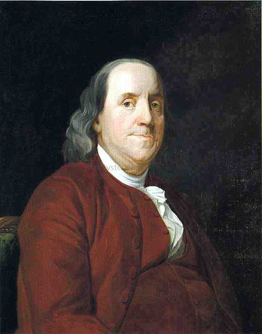 Joseph Wright Portrait of Benjamin Franklin - Hand Painted Oil Painting