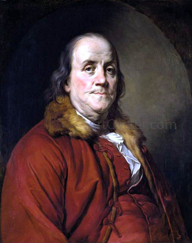 Joseph Siffrein Duplessis Portrait of Benjamin Franklin - Hand Painted Oil Painting