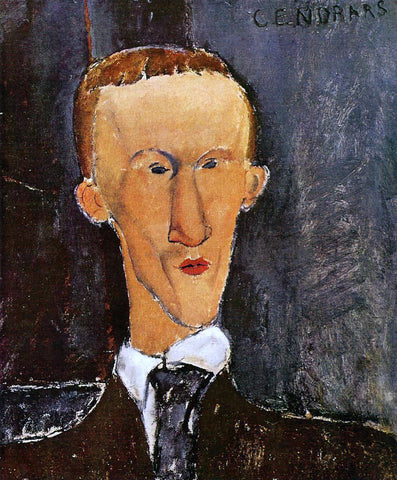 Amedeo Modigliani Portrait of Blaise Cendrars - Hand Painted Oil Painting