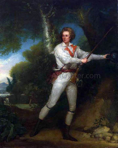 John Trumbull Portrait of Captain Samuel Blodget in Rifle Dress - Hand Painted Oil Painting