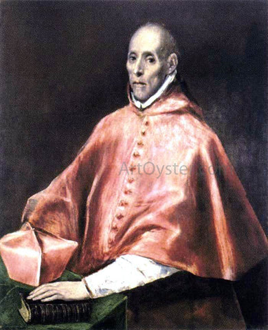 El Greco Portrait of Cardinal Tavera - Hand Painted Oil Painting