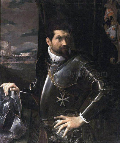 Lodovico Carracci Portrait of Carlo Alberto Rati Opizzoni in Armour - Hand Painted Oil Painting