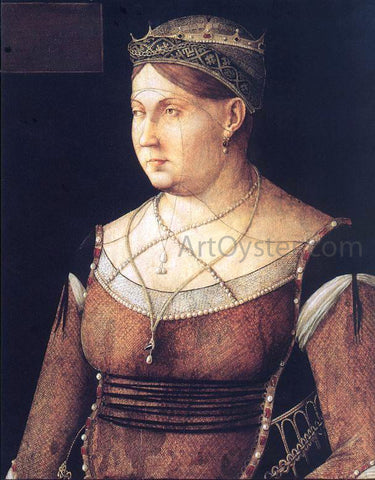Gentile Bellini Portrait of Catharina Cornaro, Queen of Cyprus - Hand Painted Oil Painting