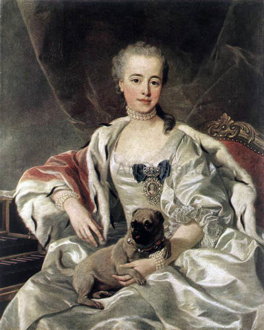 Louis Michel Van Loo Portrait of Catherina Golitsyna - Hand Painted Oil Painting