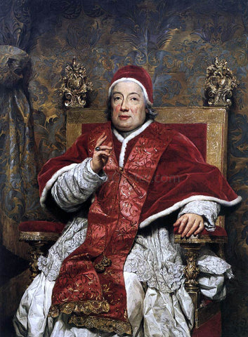 Anton Raphael Mengs Portrait of Clement XIII Rezzonico - Hand Painted Oil Painting