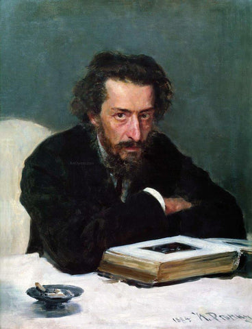 Ilia Efimovich Repin Portrait of composer and journalist Pavel Ivanovich Blaramberg - Hand Painted Oil Painting