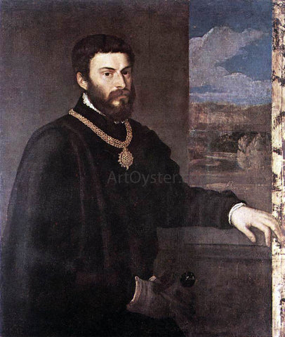 Titian Portrait of Count Antonio Porcia - Hand Painted Oil Painting