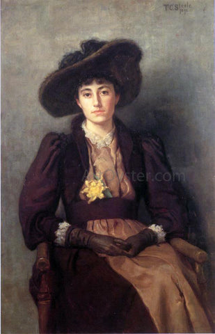 Theodore Clement Steele Portrait of Daisy - Hand Painted Oil Painting