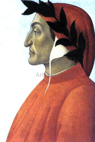 Sandro Botticelli Portrait of Dante - Hand Painted Oil Painting