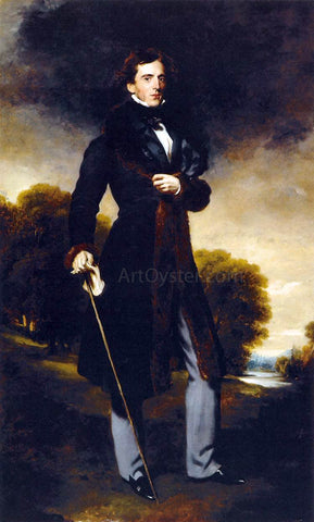 Sir Thomas Lawrence Portrait of David Lyon - Hand Painted Oil Painting