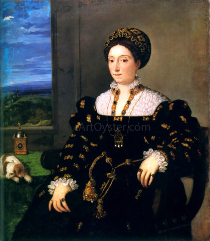Titian Portrait of Eleonora Gonzaga della Rovere - Hand Painted Oil Painting