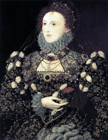 Nicholas Hilliard Portrait of Elizabeth I, Queen of England - Hand Painted Oil Painting