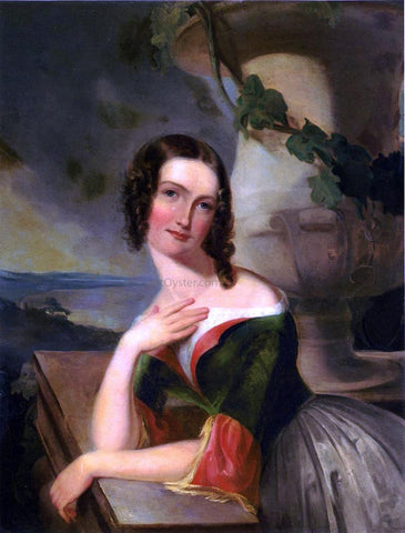 Thomas Sully Portrait of Elizabeth Wharton (Mrs. William J. McCluney) - Hand Painted Oil Painting