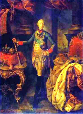 Alexey Petrovich Antropov Portrait of Emperor Peter III - Hand Painted Oil Painting
