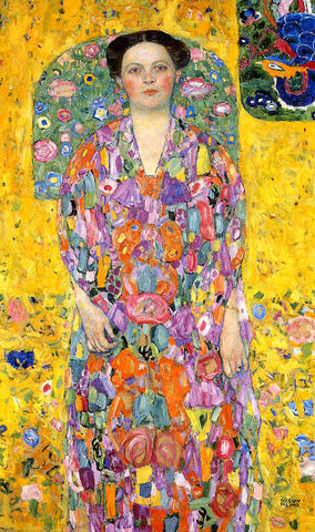 Gustav Klimt Portrait of Eugenia Primavesi - Hand Painted Oil Painting
